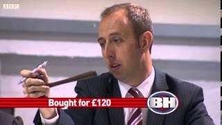 Bargain Hunt - Silver Handle Walking Stick