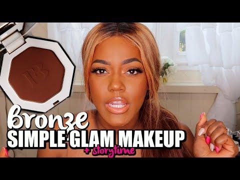 GRWM Fenty Bronze Simple Makeup! | Storytime thumbnail