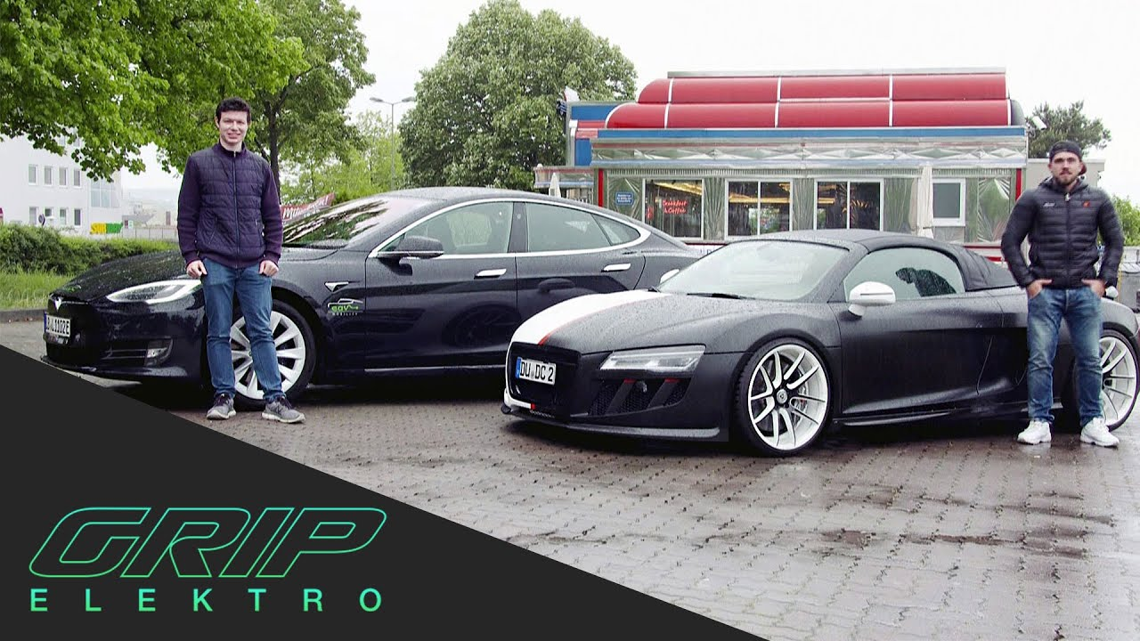 Car-Swap | Tesla Model S vs. Audi R8 Spyder | GRIP Elektro