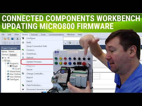 Allen Bradley Micro 820 Firmware Upgrade.  How to Update Firmware in CCW and Handle Update Errors