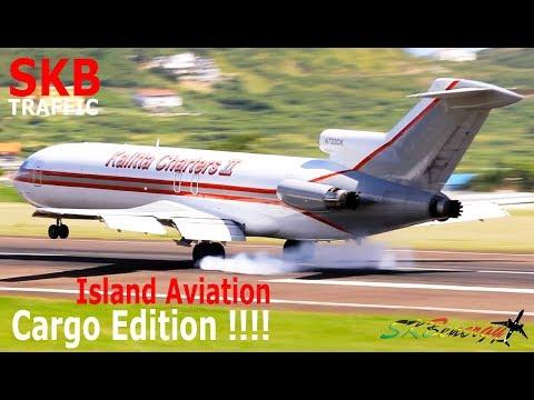 Cargo Arrivals !!! AJ 727, AJ 767, Ilyushin Il-76, FedEx - DHL 208 Caravan...@ St. Kitts Airport