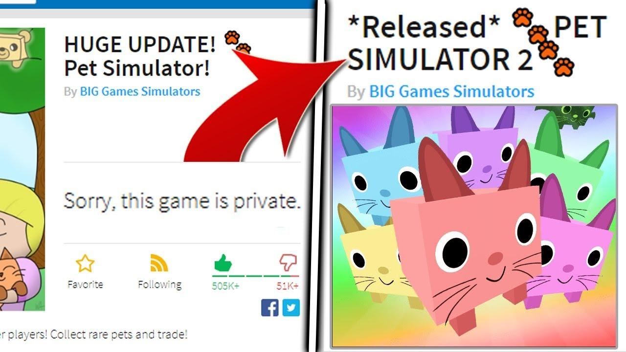 PET SIMULATOR SHUTS DOWN!😱 BUT Pet Simulator 2 IS COMING! Roblox
