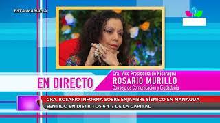 Multinoticias | Compañera Rosario informa sobre enjambre sísmico en Managua