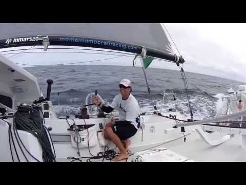 On board Momentum Ocean Racing in the Class 40 with Emma Creighton.