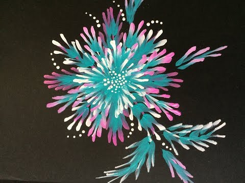 Decorative Flower With Angular Brush