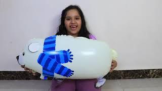 تعليم الاطفال أسماء الحيونات بالانجليزي !! Old MacDonald Nursery Rhymes learn color with balloon