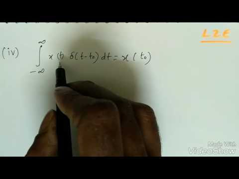 Signals and Systems Lec-8: Properties of Impulse Function