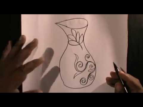 Menggambar Vas Bunga Dari Tulisan Vas Youtube