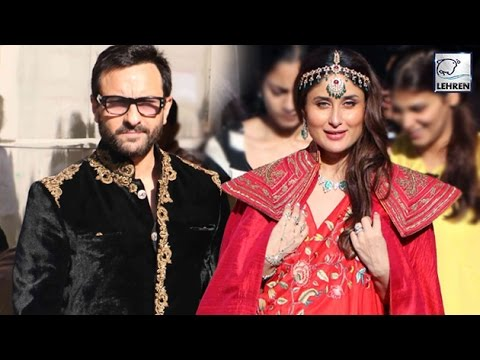 Pregnant Kareena Kapoor & Saif Ali Khan's ROYAL Romance | LehrenTV