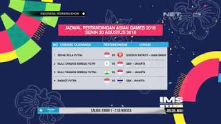Download Video Jadwal Pertandingan Asian Games 2018 Pada 20 Agustus MP3 3GP MP4