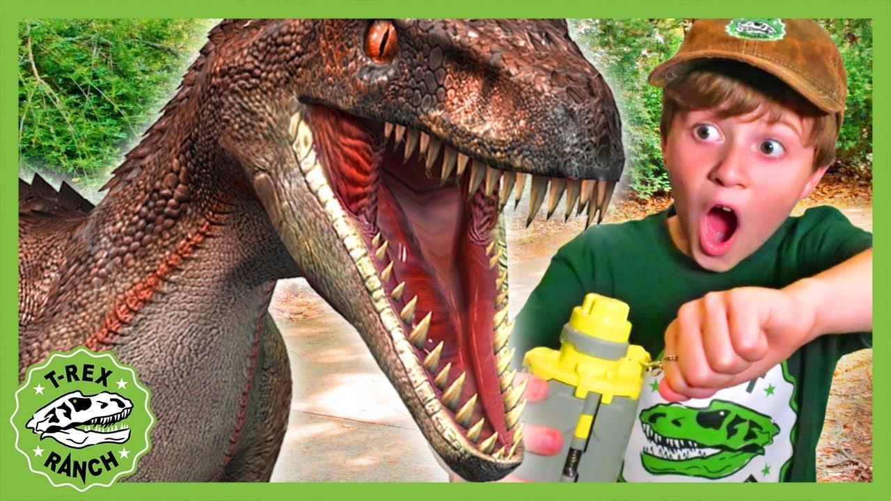 Dinosaur Escape Showdown at the T-Rex Ranch! Dinosaur Videos for Kids!