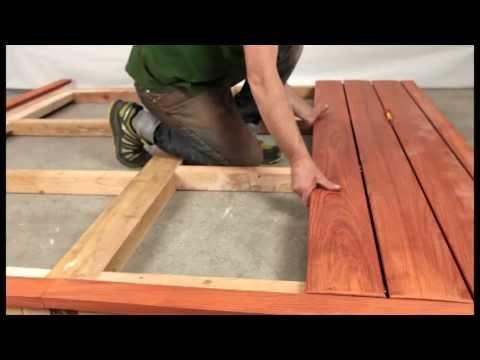 Fixation invisible pour terrasse en bois jurafix youtube - Fixation terrasse bois ...