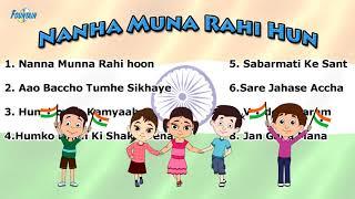 Top 8 Desh Bhakti Songs for Kids | Aao Baccho Tumhe Sikhaye, Hindi Balgeet | Hindi Rhymes