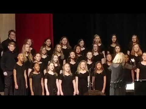 Bonaire Middle School sings Silent Night.