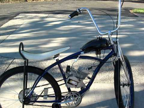 Motorized bike with 80cc MOTOVELO kit installed - YouTube