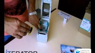 Видеоурок Zebra LP 2824 Plus  Загрузка рулонной этикетки