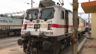 STARTING SOUND OF WAP-7 LOCO | PANTOGRAPH UP & KICKS UP DUST : INDIAN RAILWAYS