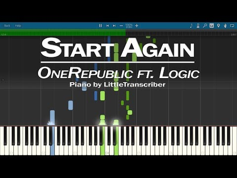 OneRepublic ft Logic - Start Again (Piano Cover) by LittleTranscriber