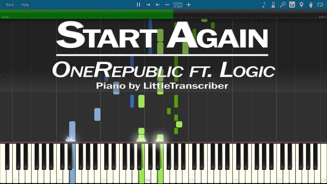 OneRepublic Ft Logic - Start Again (Piano Cover) By LittleTranscriber
