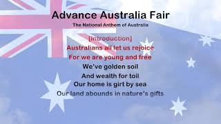Advance Australia Fair - ProTrax Karaoke Demo