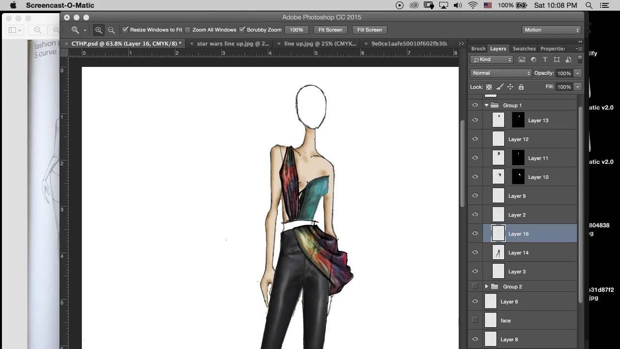 Photoshop Fashion Illustration Youtube