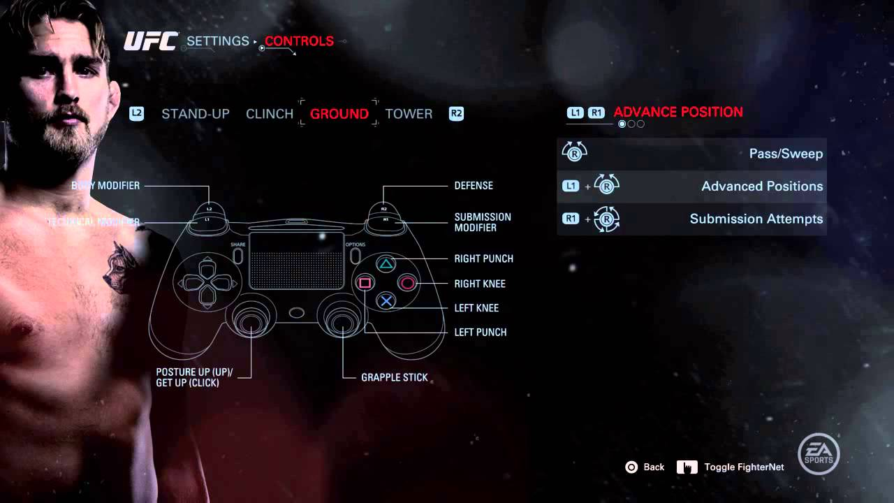 how to play ufc 2 ps4 controls