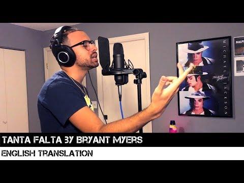 Tanta Falta By Bryant Myers (English Translation)