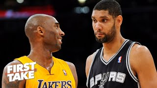 Kobe Bryant or Tim Duncan: Who had the better career? Stephen A. and Max debate | First Take