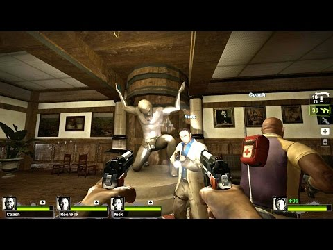Left 4 Dead 2 - Resident Evil Outbreak : File 1 Campaign Multiplayer Gameplay Walkthrough