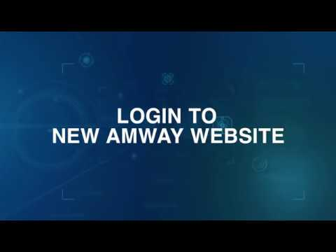 LOGIN To The New Amway Website