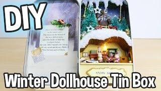 DIY Miniature Dollhouse Kit Box Theatre Snow Dream Cute Winter Scene / Relaxing Crafts
