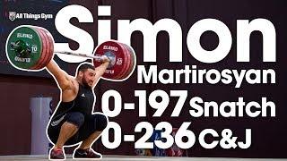 Simon Martirosyan 0-197kg Snatch 0-236kg Clean & Jerk Full Warm Ups 2017 European Juniors