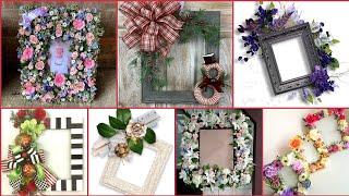 Top30+Floral Wreaths/Floral Photo Frames Ideas/Stylish Frames Designs 2021 screenshot 5