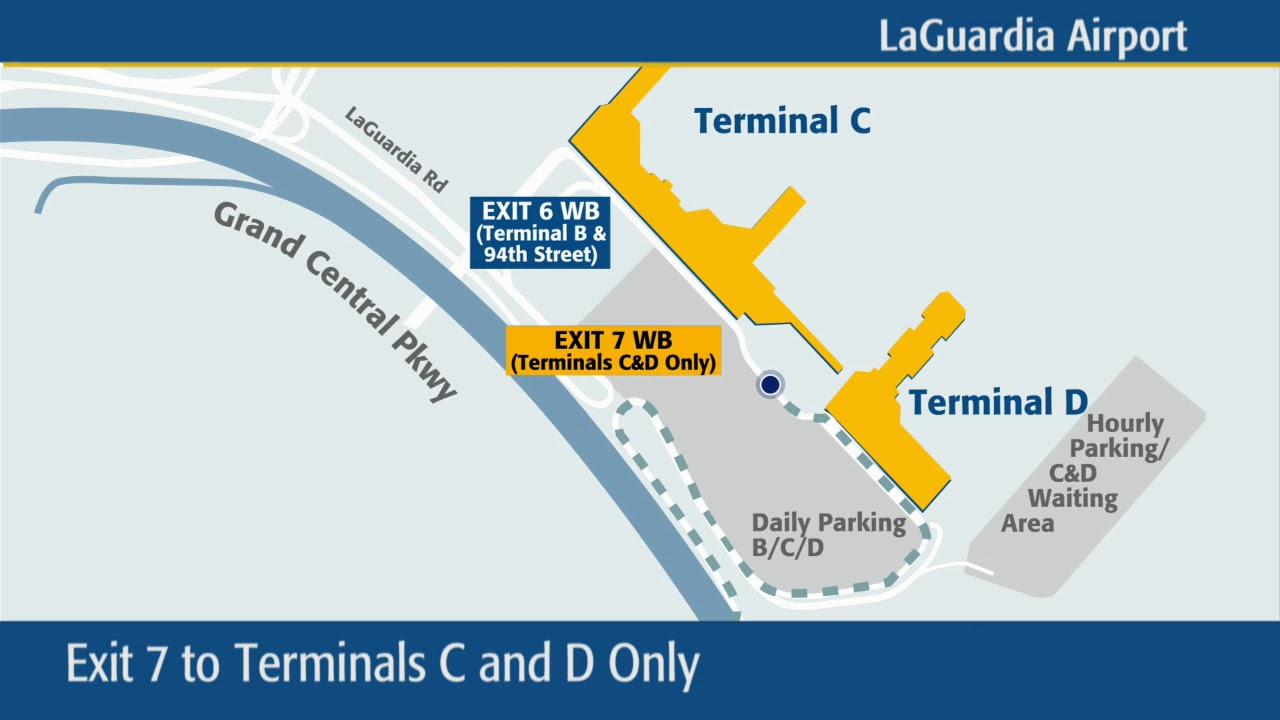 New Traffic Pattern On Grand Central Parkway Exits To Laguardia Airport Youtube