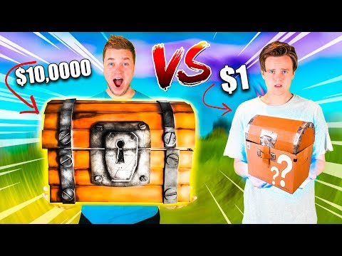 $1 Vs $10,000 FORTNITE MYSTERY BOX! Toys, Nerf & More