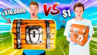 $1 Vs $10,000 FORTNITE MYSTERY BOX! 📦❓Toys, Nerf & More