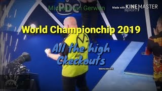 ALL THE HIGH CKECKOUTS !   PDC World Darts Championship 2019