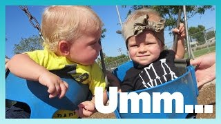 AWKWARD BABY PLAYDATE 2! | Look Who's Vlogging: Daily Bumps