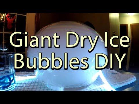 Giant Dry Ice Bubbles DIY. 4k Bing Err Slow Motion 120 FPS