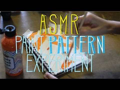 ASMR Paint Pattern Experiment | No Talk | LITTLE WATERMELON