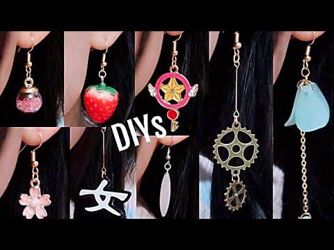 8 Easy DIY Earrings! DIY Cute Jewelry!
