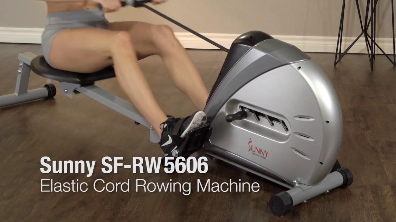 Sunny Health & Fitness SF-RW5606 Elastic Cord Rowing Machine