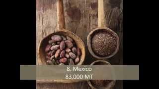 Top 10 cocoa bean producing countries