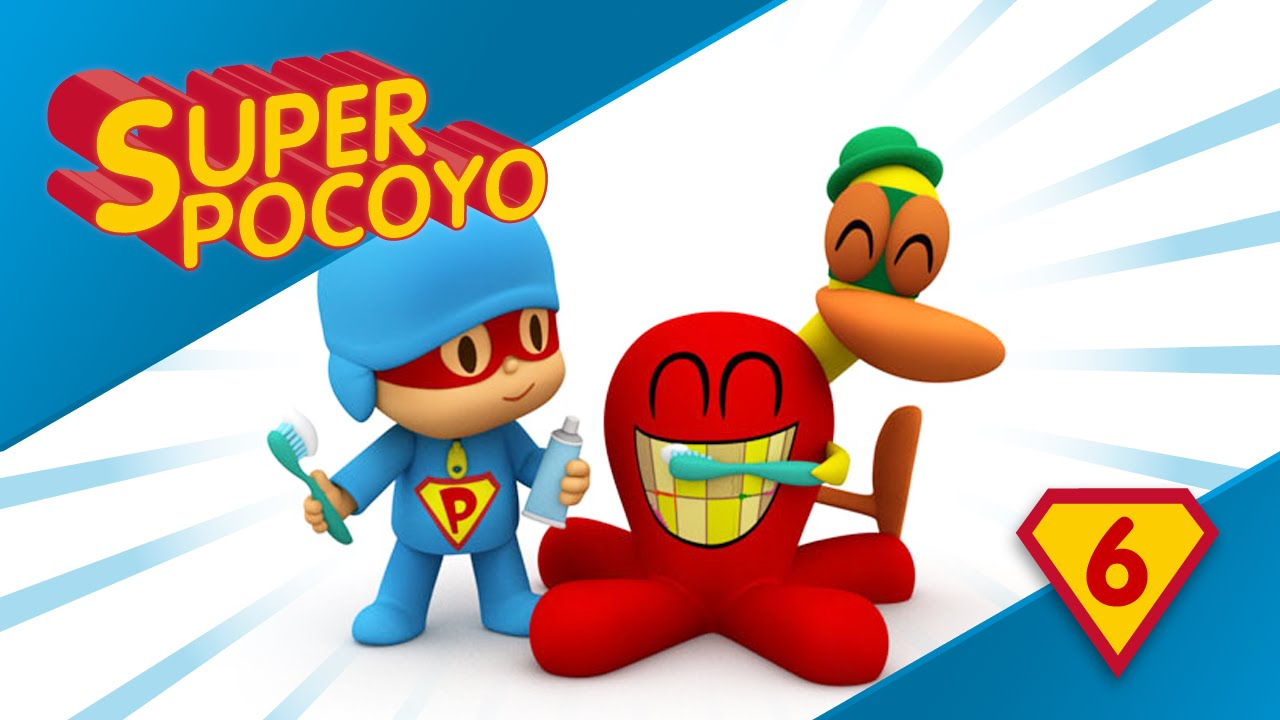 Super Pocoyo Reminds Us To Brush Our Teeth Every Day Youtube