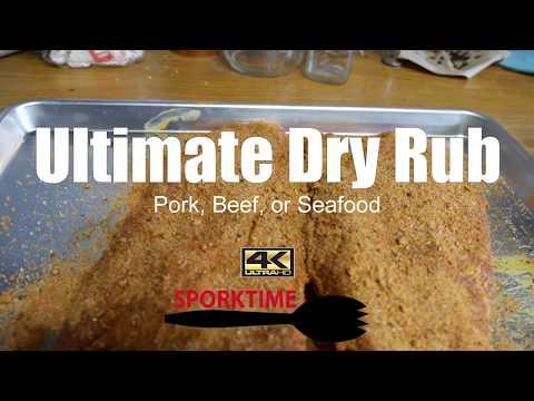 Secret Dry Rub Recipe For Pork Ribs, Beef Brisket, Or Seafood (BBQ Smoker)