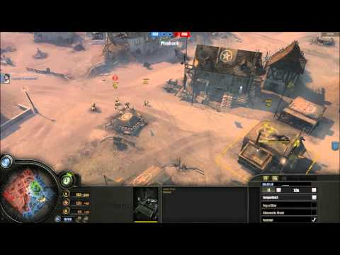 Company Of Heroes Multiplayer : 2V2 - Britain/America vs Panzer Elite/Wehrmacht (1/2)