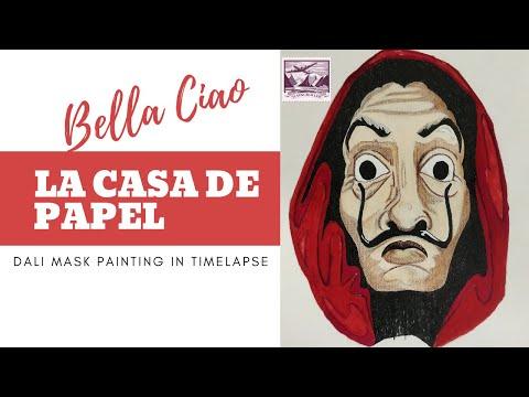 la-casa-de-papel-|-money-heist-dali-mask-painting-timelapse