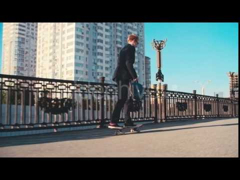 Businessman on Skateboard - Stock Footage | VideoHive 14631949