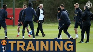 Jose Mourinho leads Manchester United training ahead of Juventus UEFA Champions League match