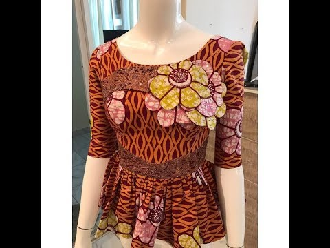 Beautiful and Lovely Ankara Peplum Tops Design by Ep fashionhouse
